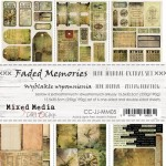 Junk Journal Set Faded Memories, Mixed Media, 15,5x30,5cm (7 one and double sided sheets, 250g/190g, inscriptions - 1 sheet ENG/PL)