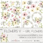 Paper Collection Set 15,5x30,5cm Sweet Princess - Flowers V, Girl Flowers 250 gsm (2 one-sided sheets, 2 designs)