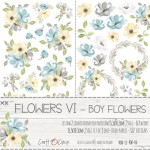 Paper Collection Set 15,5x30,5cm Sweet Prince - Flowers VI, Boy Flowers 250 gsm (2 one-sided sheets, 2 designs)