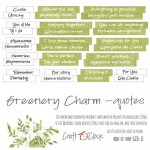 Die-cuts Greenery Charm, 16xENG quotes , cut-out, 190 gsm (PL on the back)