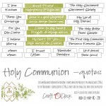 Die-cuts Holy Communion, 16xENG quotes, cut-out, 190 gsm (PL on the back)