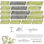 Die-cuts I Do!, 16xENG quotes, cut-out, 190 gsm (PL on the back)