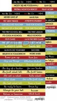Double-sided paper 15,5x30,5cm Childhood Crayons quotes School 190 gsm (1 sheet), ENG, PL on the back