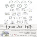 Die-cuts Lavender Hills, set of inscriptions in boxes, 3 sheets 5,5x30,5cm, 190 gsm (ENG, PL on the back)