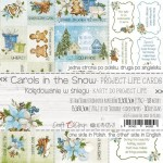 Set of project life cards Carols In the Snow 15x30 cm, 190 gsm (3 double-sided sheets, inscriptions ENG, PL on the back) (clr 30)
