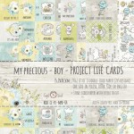 Set of project life cards My Precious - Boy 15x30 cm (10 double-sided sheets, 5 designs, 2 of each, ENG-PL inscriptions; 3 one sided sheets) (clr 15)