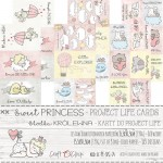 Set of project life cards Sweet Princess 15x30 cm, 190 gsm (3 double-sided sheets, quotes ENG, PL on the back)