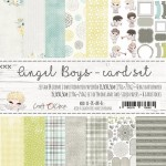 Card Set Angel Boy (6 blank cards 300 gsm and 14 one- and double-sided sheets, 15,5x30,5cm, 190 gsm+250gsm, 14 designs, 1 sheet with ENG and PL inscri