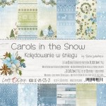 Paper Collection Set 20,3x20,3cm Carols In the Snow, 190 gsm (18 double-sided sheets: 10 designs, 3 units of each sheet+ 3x design on the cover)