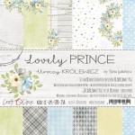 Paper Collection Set 20,3x20,3cm Lovely Prince, 190 gsm (18 double-sided sheets: 10 designs, 3 units of each sheet+ 3x design on the cover)