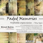 Paper Collection Set 20,3x20,3cm Faded Memories, Mixed Media, 250 gsm (18 double-sided sheets: 10 designs, 3 units of each sheet+ 3x design on the co