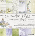 Paper Collection Set 20,3x20,3cm Lavender Bliss, 190 gsm (18 double-sided sheets: 10 designs, 3 units of each sheet+ 3x design on the cover)