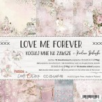 Paper Collection Set 20,3x20,3cm Love Me Forever, 190 gsm (18 double-sided sheets: 10 designs, 3 units of each sheet+ 3x design on the cover)