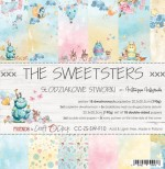 Paper Collection Set 20,3x20,3cm the Sweetsters, 190 gsm (18 double-sided sheets: 10 designs, 3 units of each sheet+ 3x design on the cover)