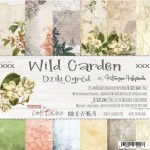 Paper Collection Set 20,3x20,3cm Wild Garden, 190 gsm (18 double-sided sheets: 10 designs, 3 units of each sheet+ 3x design on the cover)