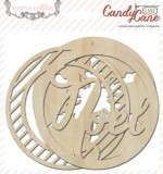 Candy Cane Lane: Wood Ornaments (6 pieces per pack) (clr 70)