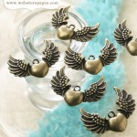 5-pc Charm : Heart & Wings CH142 (clr 70)