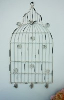 Medium White Birdcage Memo Holer