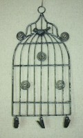 Small White Birdcage Memo Holder 30x15,5 cm (clr 80)
