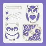 Chipboard elements - Kids 005, 148x148x1.5 mm, laser cut, Beermat (clr 30)
