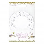 Dovecraft Nature's Grace Mini Doilies (40 pcs, 9cm)