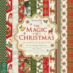 Dovecraft The Magic of Christmas FSC 8x8 Paper Pack (48 sheets, 12 designs, 150 gsm)