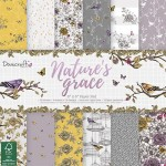 Dovecraft Nature's Grace FSC 6x6 Paper Pack 150 gsm (48 sheets, 12 designs, 4 units of each sheet)