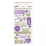 Dovecraft Nature's Grace Sentiment Glittered Flat Stickers (22 pcs, from 1cm to 4.5cm) (clr 70)