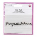 Dovecraft A7 (7.4x10.5cm) Photopolymer Clear Stamp - Congratulations (clr 50)