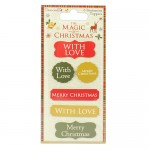 Dovecraft The Magic of Christmas Sentiment Toppers (clr 50)