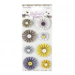 Dovecraft Nature's Grace Accordion Stickers, 8 pcs, from 3cm to 5cm in diameter (clr 30)