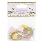 Dovecraft Nature's Grace Mini Bunting and Twine (20 ocs, 1 cm)