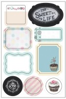 the Sweet Life, Washi Labels, Stickers (clr 80)