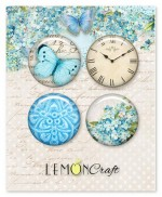Set of embellishments - Forget Me Not, diameter 2,5 cm