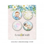 Set of embellishments - Lullaby 01, boy diameter 2,5 cm