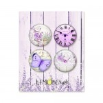 Set of embellishments - My sweet Provence, diameter 2,5 cm