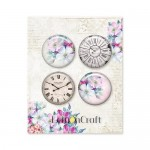 Set of embellishments -Next to me, diameter 2,5 cm