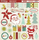 Mistletoe Magic 12x12 Chipboard Stickers (clr 70)