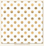 Metallic Dot (Single 12X12 Foiled Vellum Sheet) (clr 50)