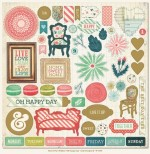 Oh Happy Day 12x12 Chipboard NT1079 (clr 50)