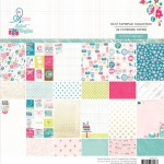 Routine 12x12 Paper Pad (24 double-sided sheets, 24 designs, 2 units of each sheet) (clr 80)