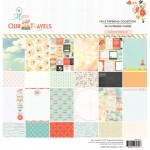 Travel 12x12 Paper Pad (24 double-sided sheets, 24 designs, 2 units of each sheet) (clr 50)