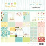 Party Time! 12x12 Paper Pad (24 double-sided sheets, 24 designs, 2 units of each sheet) (clr 70)