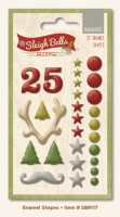 Sleigh Bells Ring Enamel Shapes (27 pieces per pack) (clr 80)