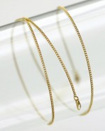Gold coloured chain 50 cm (clr 80)