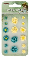 Set of flowers, Fairy Tale 1 (resin) (clr 30)