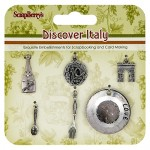 Metal charms set Discover Italy (clr 50)