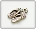 Charms set Beach Slippers 8*16mm, 10 pcs