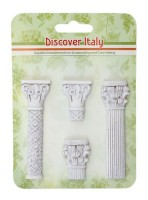 Set of polymer items Discover Italy. Columns (clr 50)