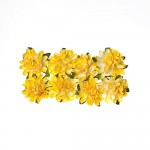 Paper Flowers – Daisy – Light yellow (8 Pieces Per Pack) (clr 50)